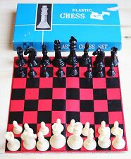 VINTAGE PLASTIC CHESS SET MADE IN HONG KONG