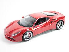 BBURAGO 1:24 DISPLAY - FERRARI RACE & PLAY - FERRARI 488 GTB Diecast Car 26513