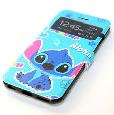 for iPhone 6 / 6S - DISNEY STITCH Leather ID Card Wallet Holder Pouch Case Cover