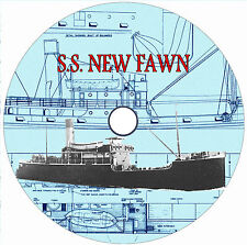 "Model Boat Plans 1/48 Scale 33"" for radio Control SS New Fawn  Drawing & Article"