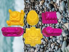 Magic Motion Sand Play Castle Mold Indoor Outdoor For Kids 6pcs