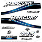 2005 Mercury Blue 225hp Optimax Saltwater Outboard Engine Decals Reproductions