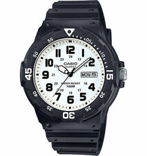Casio MRW200H-7BV, Analog Watch, Black Resin Band, White Dial, Day/Date