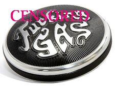 "Black Triumph Bonneville Fuel Cap Petrol Cover ""F*cking Gas"" for Hinckley Models"