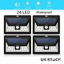 Litom 4 Pack 24 LED Solar Powered Motion Sensor Outdoor Garden Security Light