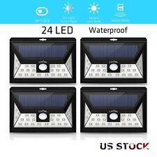 Litom 4 Pack 24 LED Solar Powered Motion Sensor Outdoor Garden Security Light