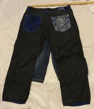 Blue Jeans with blue trim stitching made in China 10 day listing