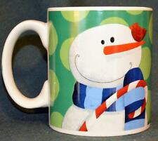 Lindy Bowman ceramic oversized MUG - Wonderful pattern! SNOWMAN