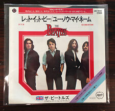 "The Beatles - Let it be  / You know my name 7"" 45 Freakbeat Beat Single Japan"