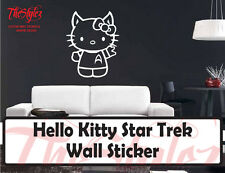 Star Trek Hello Kitty Vinyl Wall Sticker