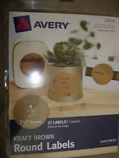 AVERY KRAFT BROWN ROUND LABELS 22924