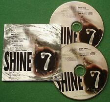 Shine 7 Garbage Suede Cast Longpigs Oasis Super Furry Animals Pulp + CD x 2
