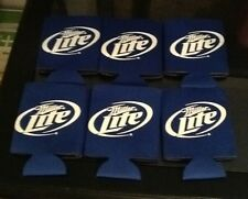Miller Lite Can Koozie Coozie LOT OF 6 KOOZIES COOZIES