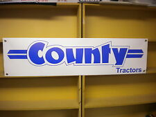 County Tractors - workshop / tractor shed banner signage, 1884, 1164, 1174, 1474