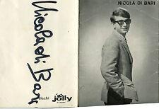 AUTOGRAFO ORIGINALE NICOLA DI BARI AMICI MIEI 1965 JOLLY