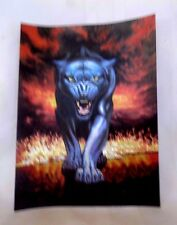 "6 "" x 8""  FOIL ART PRINT OF THE ""FIRE PANTHER"" REFLECTS THE LIGHT"