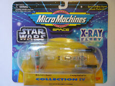 Star wars micro machines x-ray collection iv slave 1 y-wing star fighter 1996
