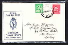 FDC  10 MY 37  KGVI  ON HERMES COVER.