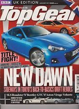 BBC TOP GEAR MAGAZINE UK January 2012, Title Fight!, NEW DAWN.