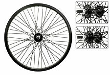 """Bicycle Wheels 20"""" Pair Black 3/8"""" 48'S Alloy New #330"""