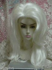 SIN CITY WIGS LONG SLEEK WHITE MODEL LOOK DRAG QUEEN SOFT SHINY LAYERS SO HOT