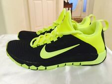Nike Free 5.0 TR Fit Athletic Sneakers Black Neon Yellow Laces NEW Men's 8.5