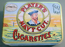 PLAYER'S NAVY CUT CIGARETTES~VINTAGE TIN~VERY GOOD CONDITION