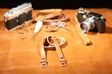Cinghia Tracolla-Strap for Nikon F F2 F3 FM FM2 FE - Genuine Leather Mid brown