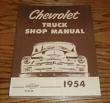 1954 Chevrolet Truck Shop Service Manual 54 Chevy Pickup