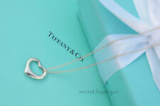 "AUTHENTIC Tiffany & Co. Small Open Heart Necklace 17.5"" (#529A)"
