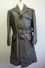 VINTAGE 60'S NIKATOR GERMAN LEATHER TRENCH COAT JACKET SIZE 50 SUPERIOR QUALITY