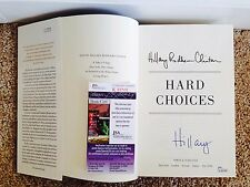 "Hillary Rodham Clinton Signed Autograph Book ""Hard Choices"" 1st Edition JSA USA"