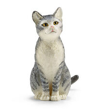 Schleich 13771 Cat Sitting Model Toy Animal Figurine 2015 - NIP