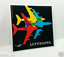 Lufthansa Vintage Style Travel Decal / Vinyl Sticker, Luggage Label