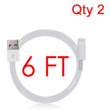 Qty 2- 6FT SYNC DATA CABLE CHARGER POWER CORD FOR iPad 4 AIR 1 2 MINI 3 IPHONE 6