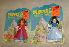 2 MEGO Puppet Love Figure Fairy Tale Dolls RED RIDING HOOD & SNOW WHITE MOC 1977