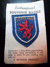 Vintage Souvenir Patch Scotland Coat of Arms Lion