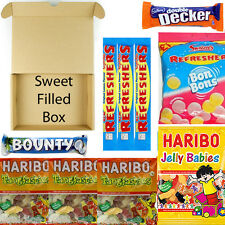 CHOCOLATE & SWEET FILLED GIFT BOX HARIBO BOUNTY DOUBLE DECKER SWIZZLES CHRISTMAS