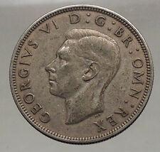 1944 United Kingdom of Great Britain GEORGE VI Half Crown Silver Coin i56645