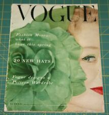 February Vogue 1953 Rare Vintage Vanity Fair Fashion Design Collection Magazine