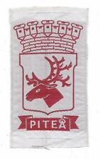 Piteå Norrbotten Province Sweden old Woven Travel Patch Caribou Reindeer Crown