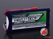 Nano-tecnología 2100mah 2s 6,6 / 20 ~ 40c vida receptor batería encaja.50.90 Heli