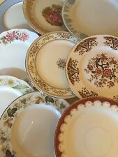 Job lot of 10 Vintage Mismatched Dessert Plates-Ideal for Tea Parties