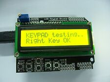 Yellow Backlight 1602 LCD Board Keypad Shield For Arduino LCD Duemilanove Robot