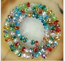 Faceted Crystal Beads  Crafts Glass Rondelle Jewelry Bicone New Multi Color 8MM