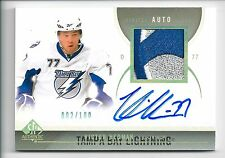 2010-11 SP Authentic #16 AUTO/PATCH Victor Hedman #002/100 Tampa Bay Lightning