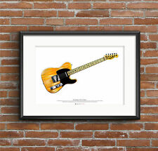 Bruce Springsteen's 1950's Fender Esquire guitar ART POSTER A2 size