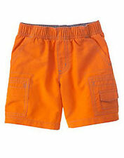 NWT Gymboree Construction Ahead Orange Shorts 12 18