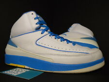 2004 Nike Air Jordan II 2 Retro CARMELO MELO ANTHONY WHITE BLUE YELLOW BLACK 11