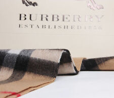 100% CASHMERE BRAND NEW AUTHENTIC BURBERRY SCARF CAMEL CHECK BLACK RED WHITE